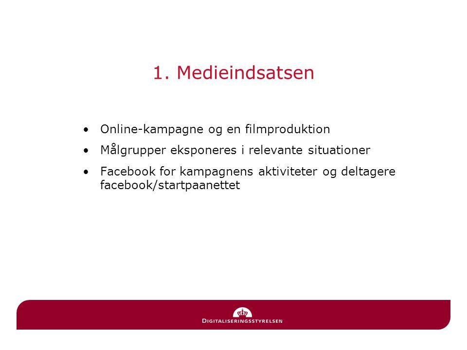 1. Medieindsatsen Online-kampagne og en filmproduktion