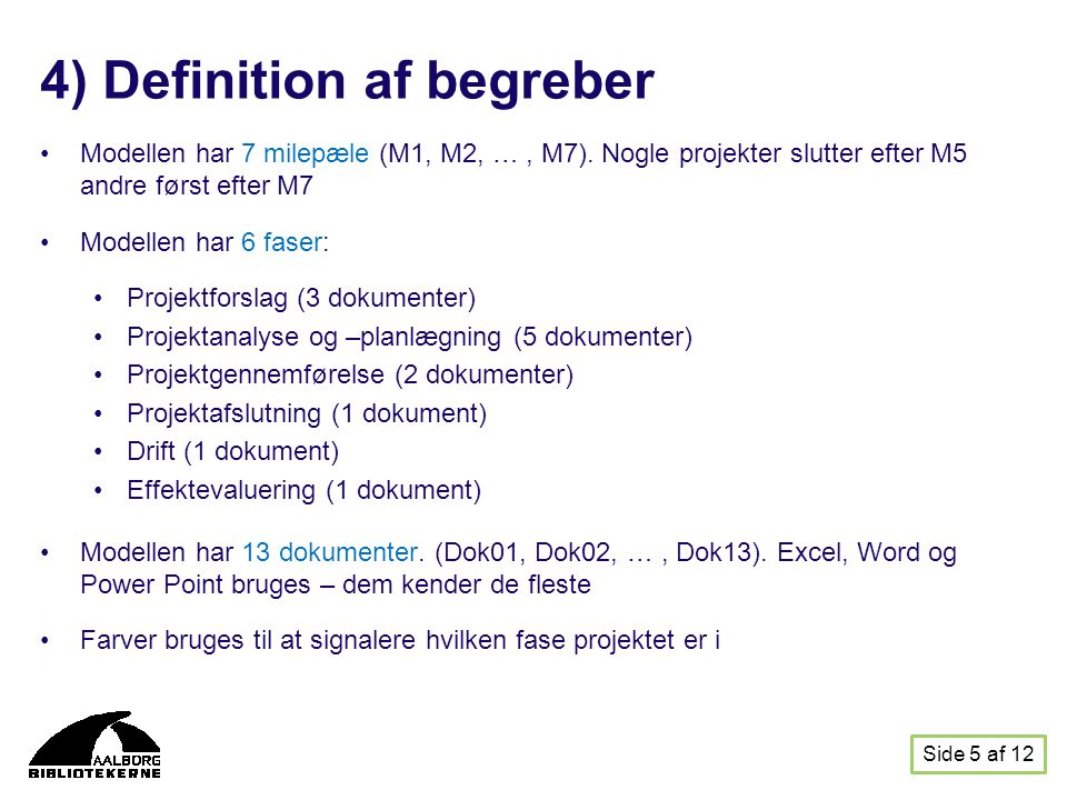 4) Definition af begreber
