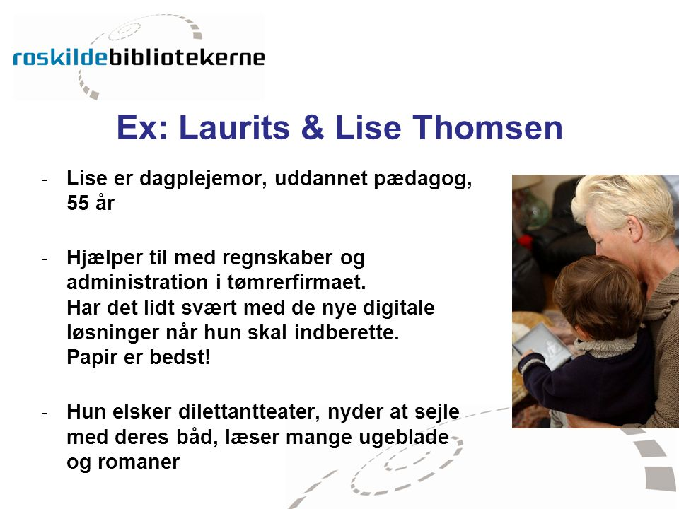 Ex: Laurits & Lise Thomsen
