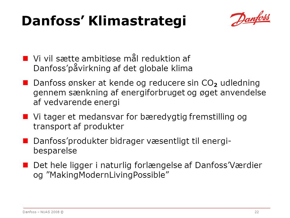 Danfoss' Klimastrategi