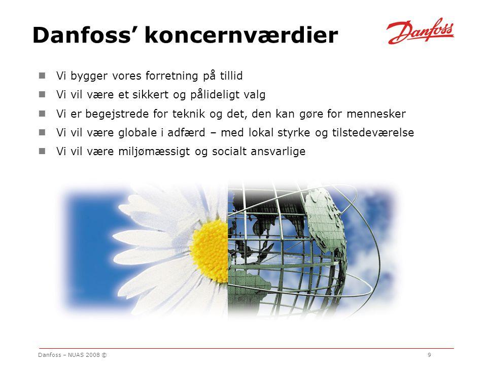 Danfoss' koncernværdier