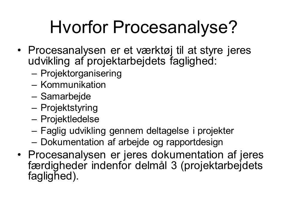 Hvorfor Procesanalyse