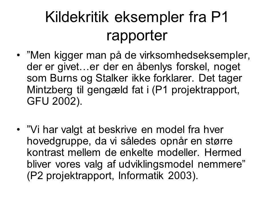 Kildekritik eksempler fra P1 rapporter