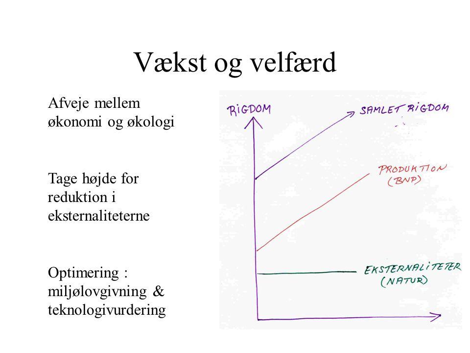Vækst og velfærd Afveje mellem økonomi og økologi