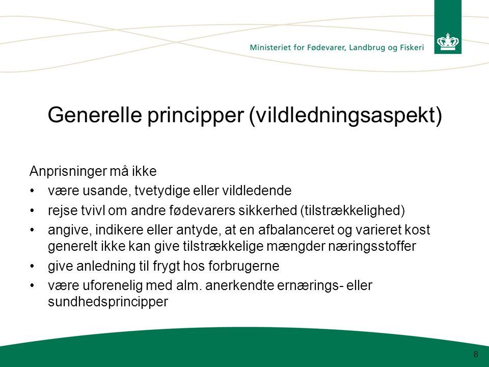 Generelle principper (vildledningsaspekt)