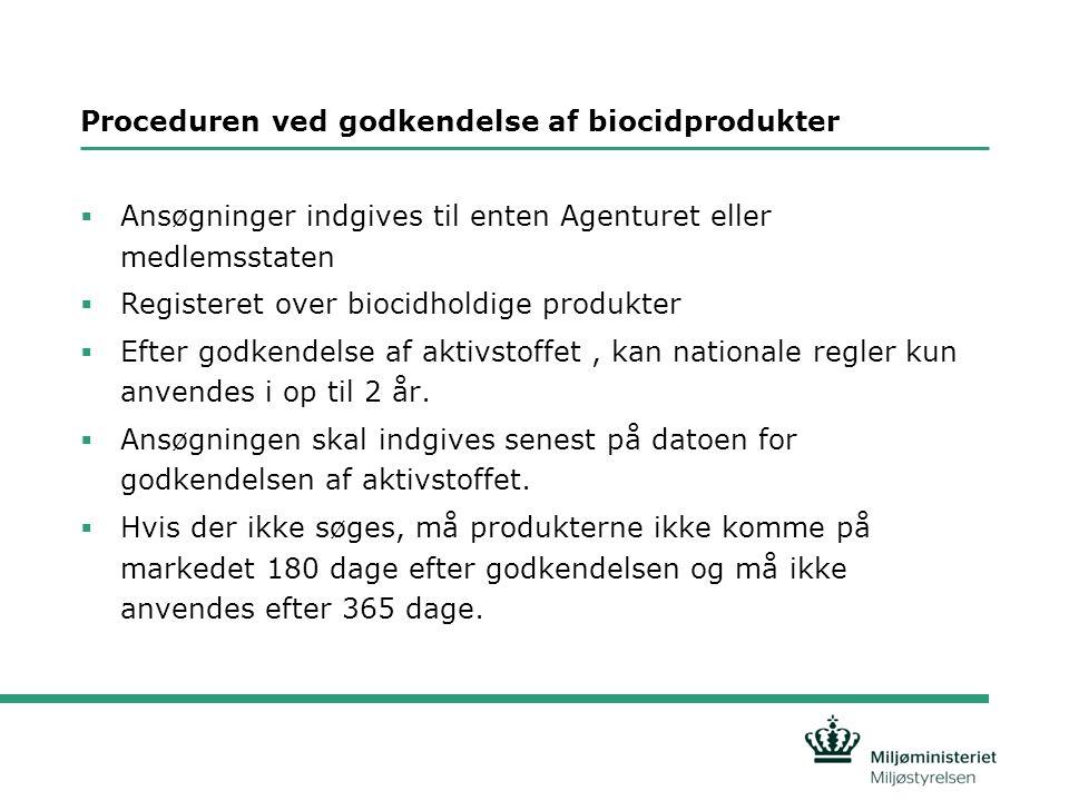 Proceduren ved godkendelse af biocidprodukter