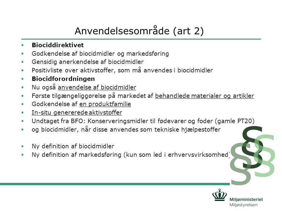 Anvendelsesområde (art 2)