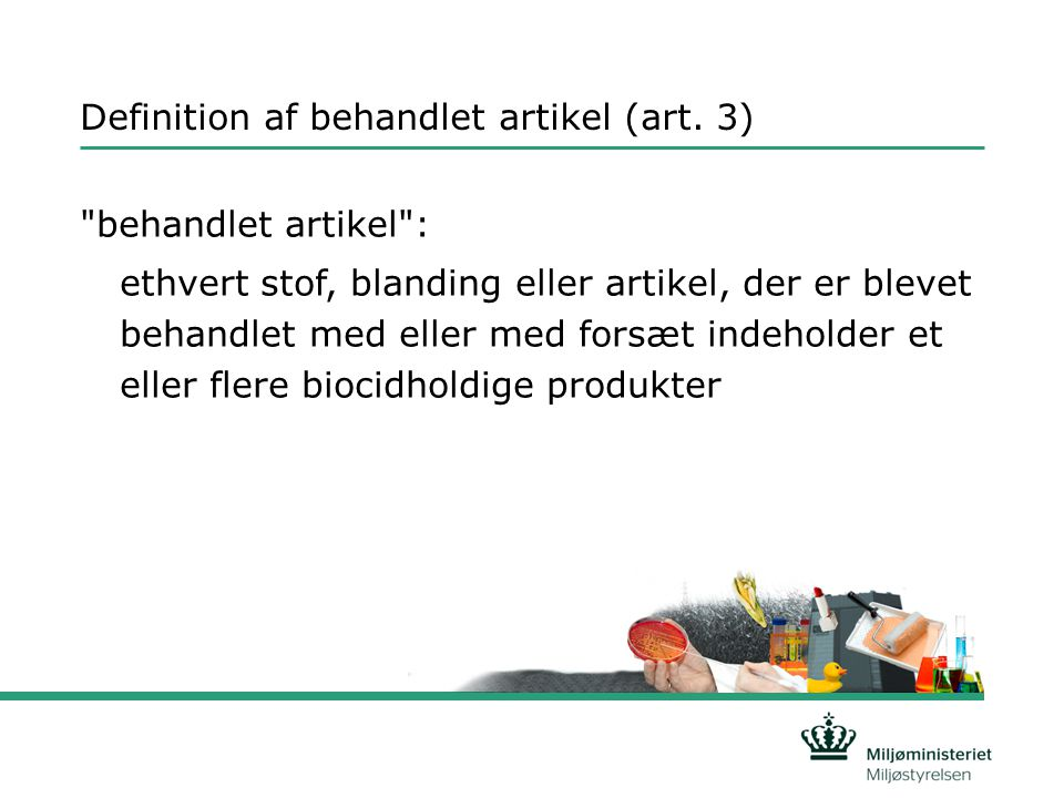 Definition af behandlet artikel (art. 3)