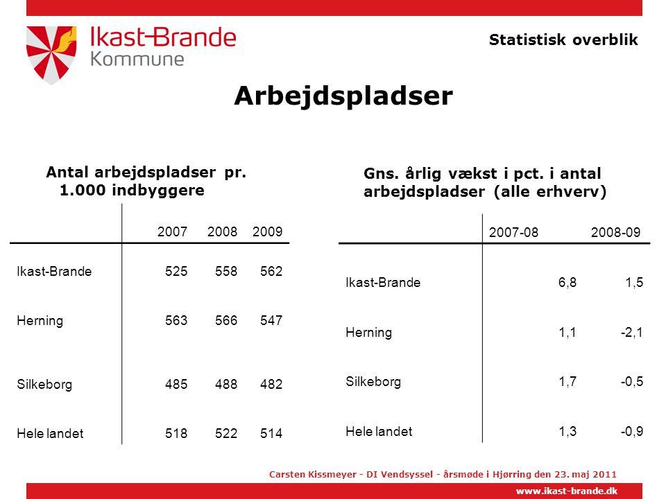 Arbejdspladser Statistisk overblik