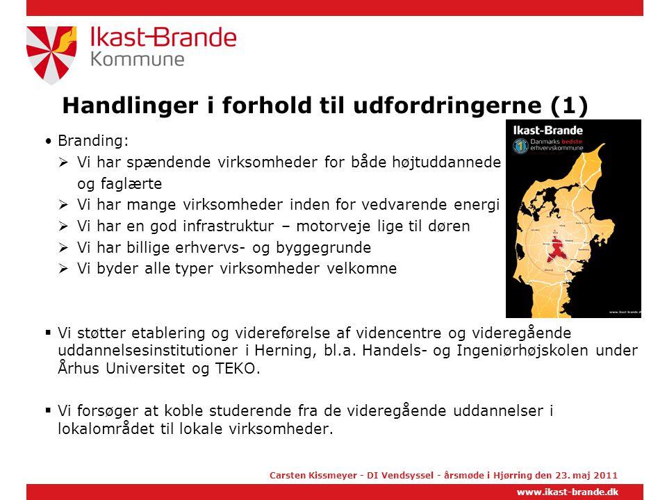 Handlinger i forhold til udfordringerne (1)
