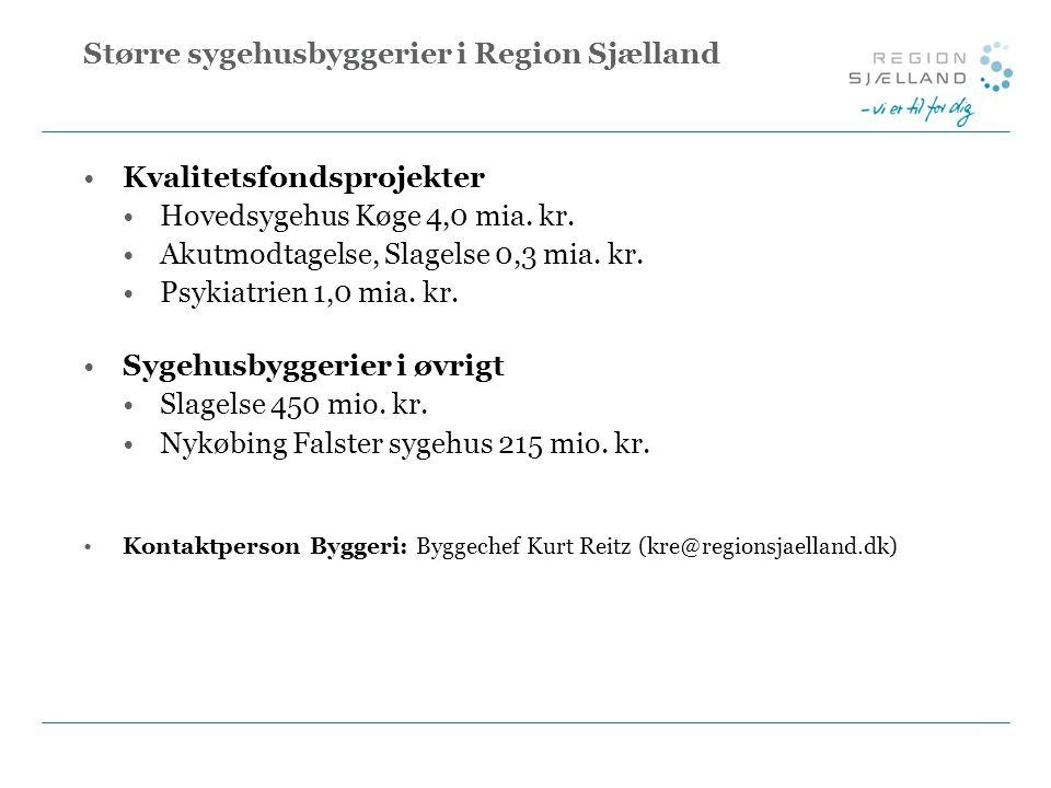 Større sygehusbyggerier i Region Sjælland