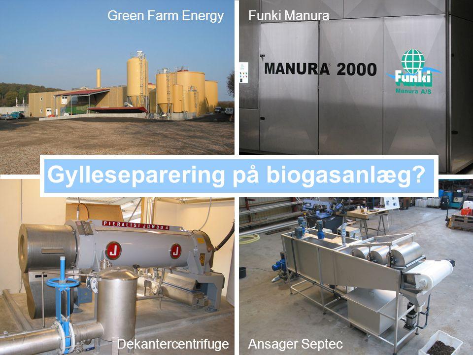 Gylleseparering på biogasanlæg