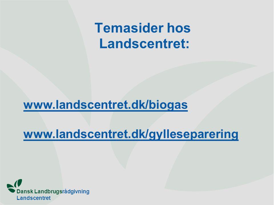 Temasider hos Landscentret: