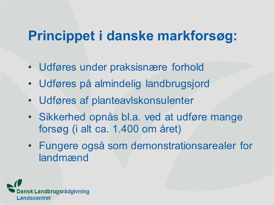 Princippet i danske markforsøg: