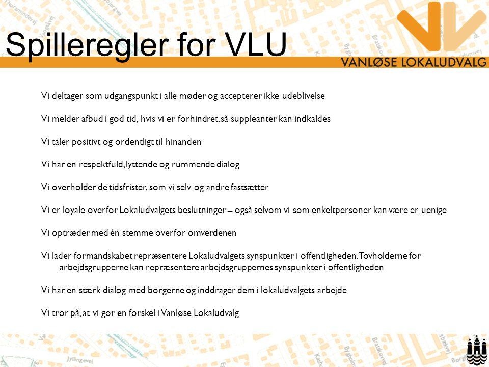 Spilleregler for VLU Vi deltager som udgangspunkt i alle møder og accepterer ikke udeblivelse.