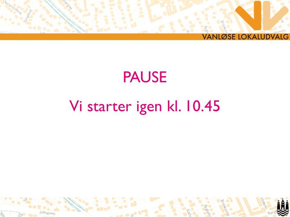 PAUSE Vi starter igen kl. 10.45 7