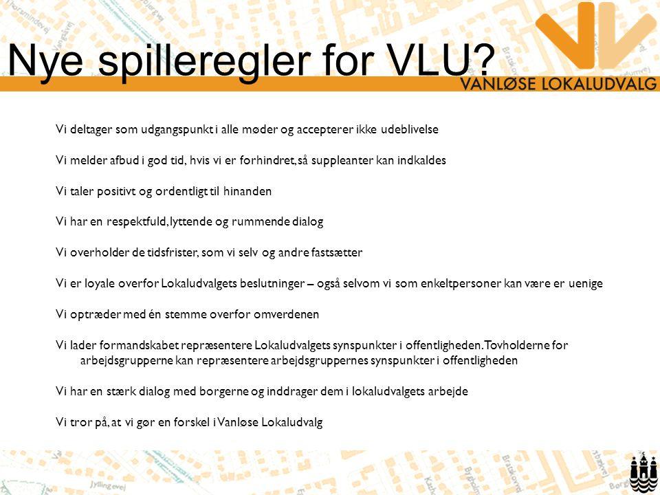 Nye spilleregler for VLU