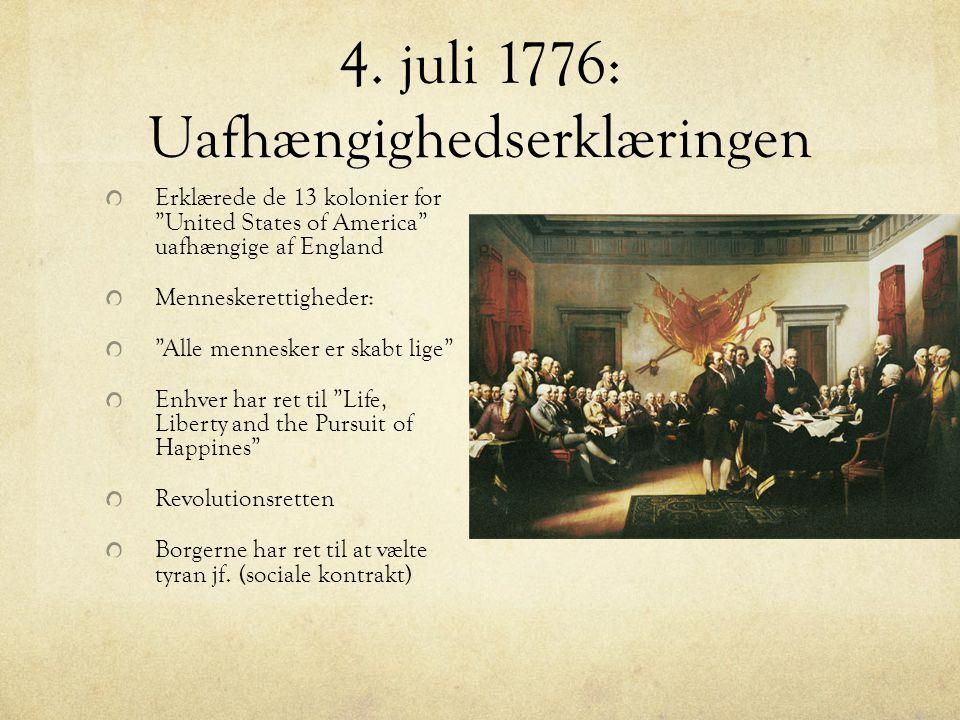4. juli 1776: Uafhængighedserklæringen