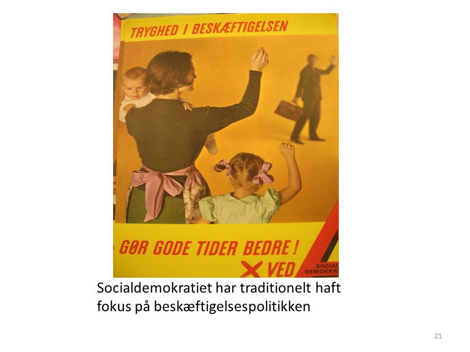 Socialdemokratiet har traditionelt haft fokus på beskæftigelsespolitikken