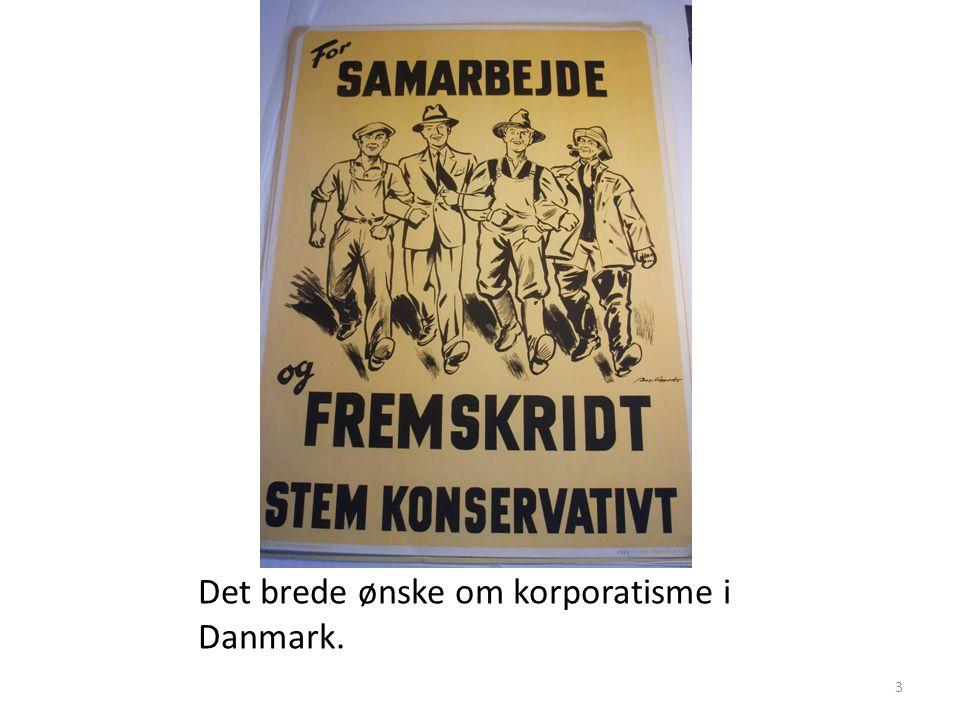 Det brede ønske om korporatisme i Danmark.
