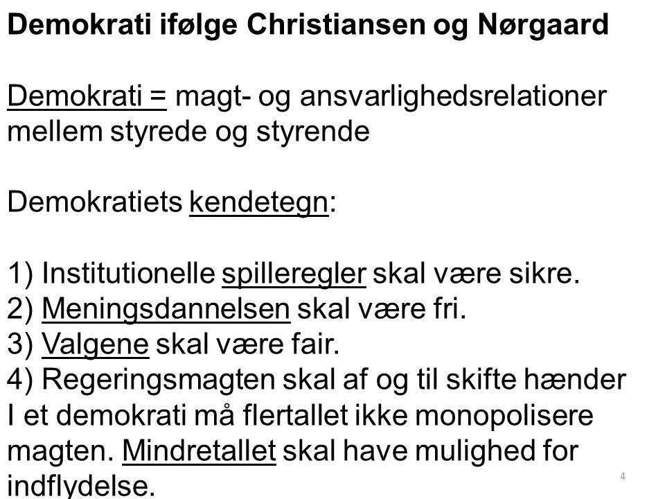 Demokrati ifølge Christiansen og Nørgaard