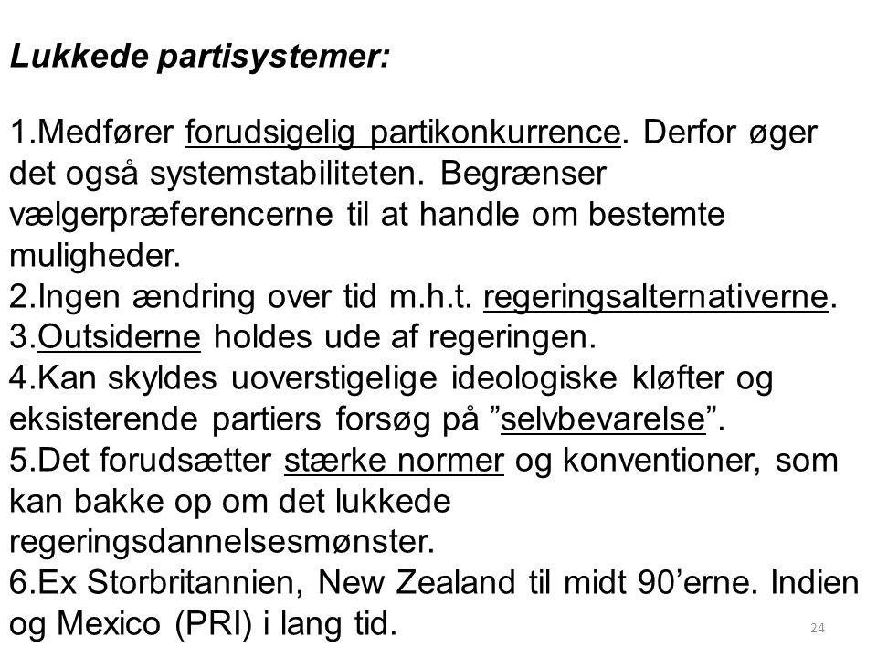 Lukkede partisystemer:
