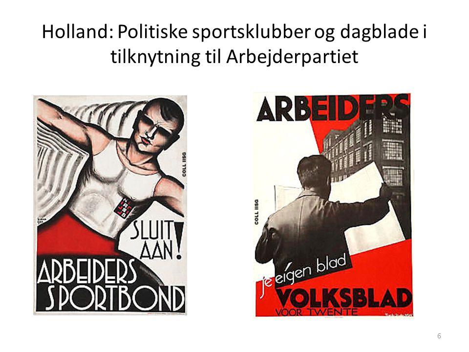 Holland: Politiske sportsklubber og dagblade i tilknytning til Arbejderpartiet