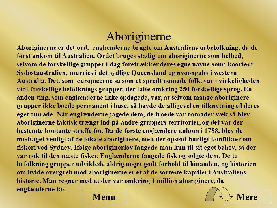Aboriginerne Menu Mere