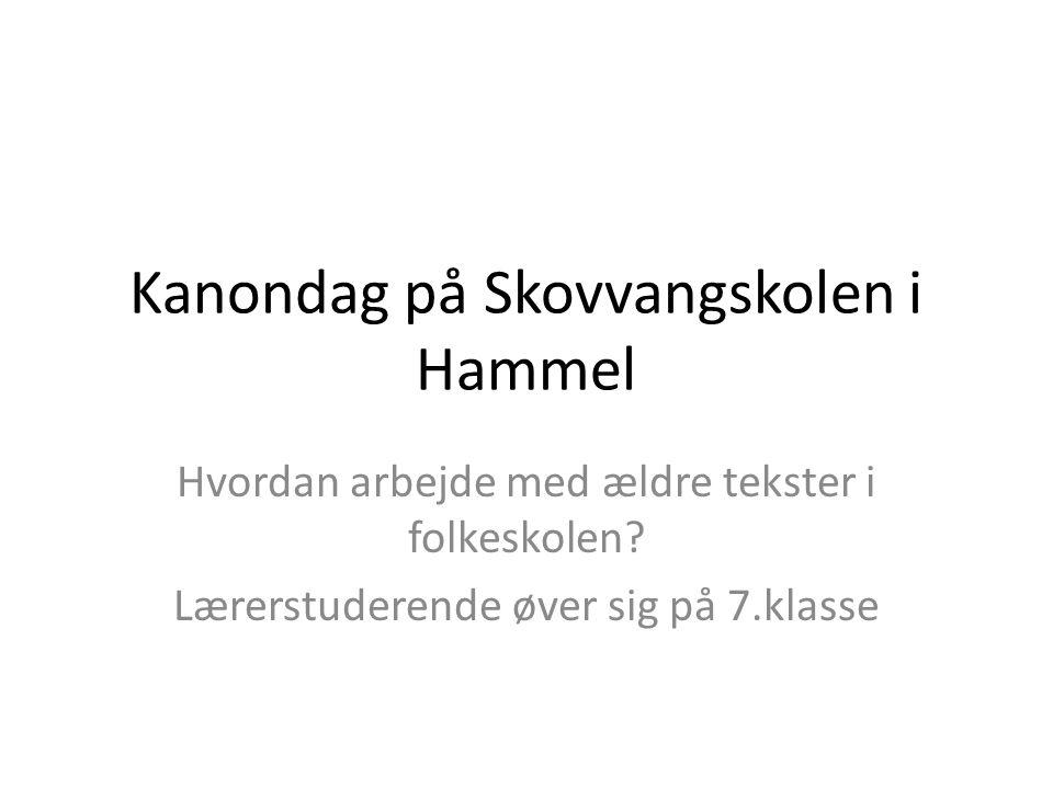 Kanondag på Skovvangskolen i Hammel