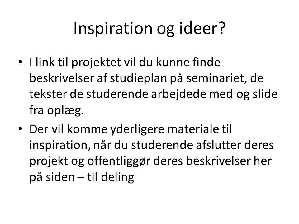 Inspiration og ideer