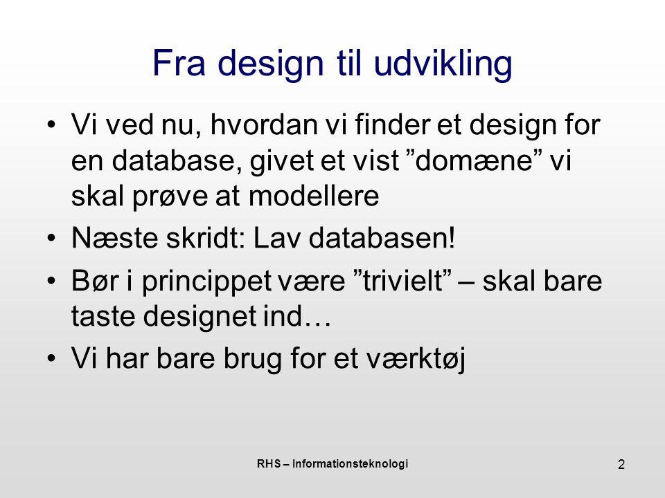 Fra design til udvikling