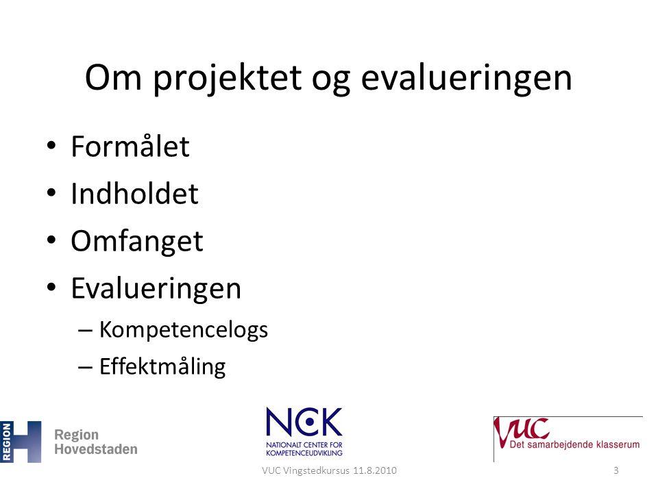 Om projektet og evalueringen