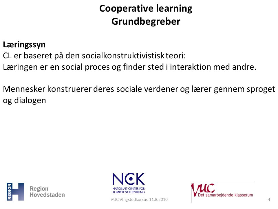 Cooperative learning Grundbegreber