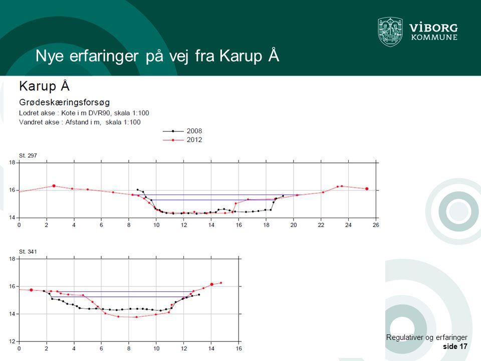 Nye erfaringer på vej fra Karup Å
