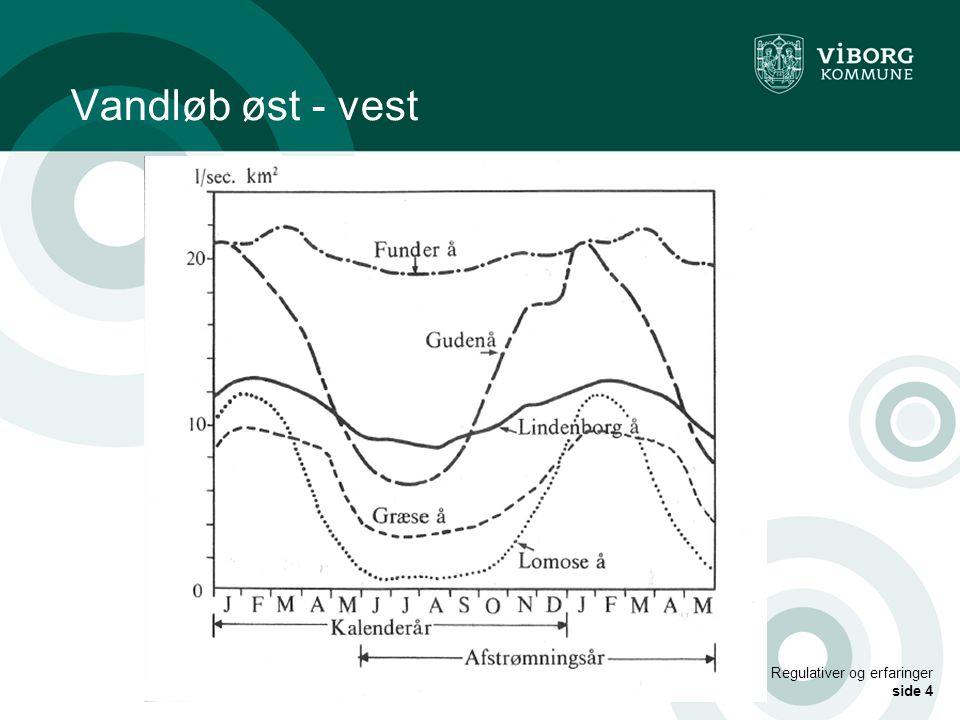 Vandløb øst - vest Regulativer og erfaringer side 4
