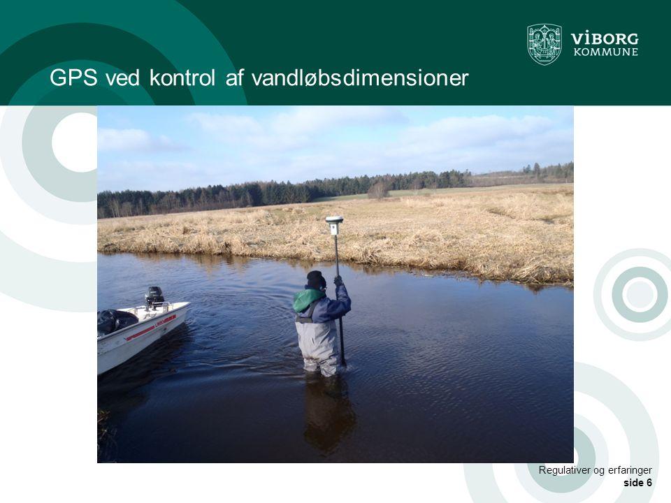 GPS ved kontrol af vandløbsdimensioner