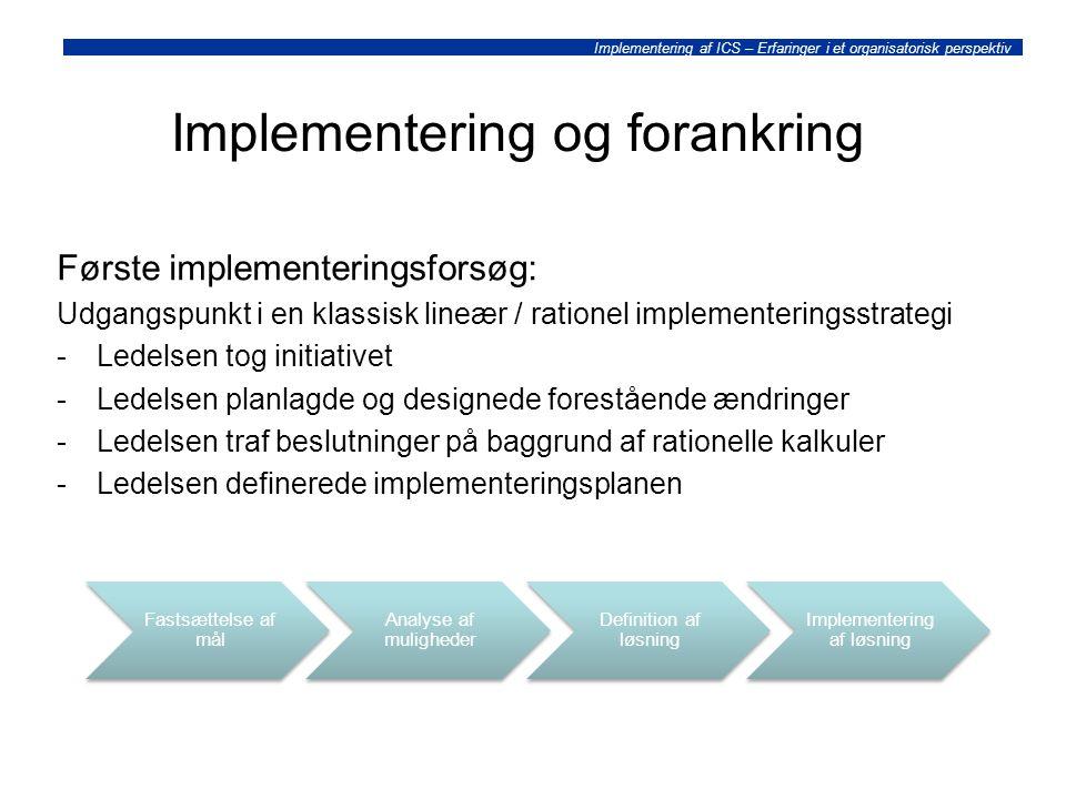 Implementering og forankring