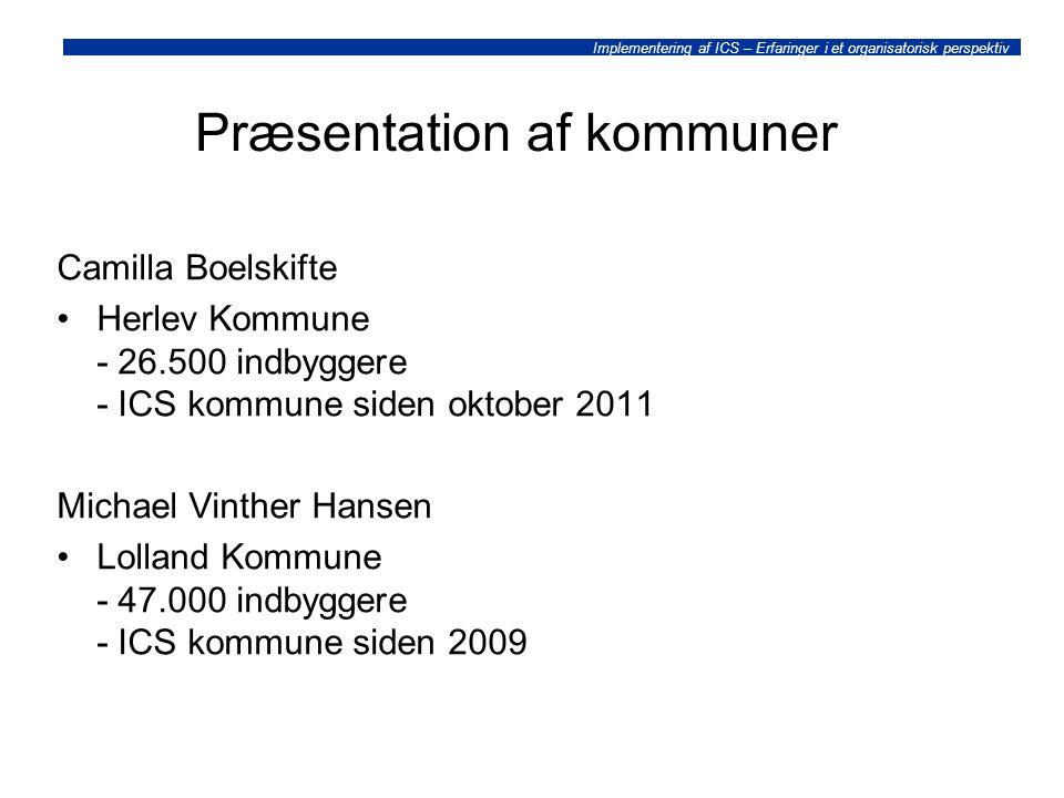 Præsentation af kommuner