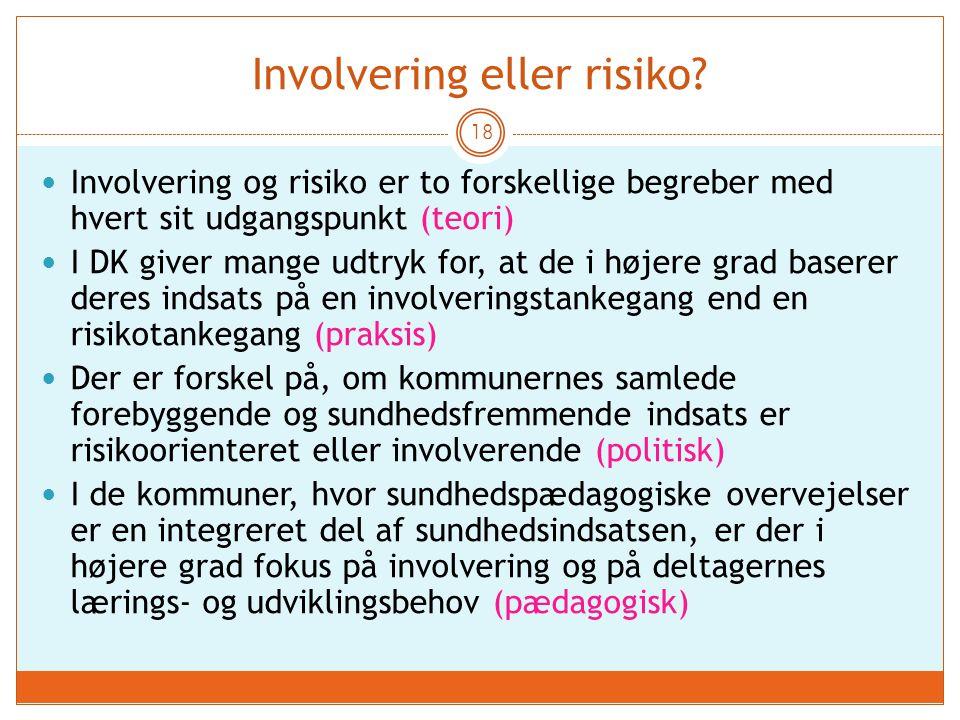 Involvering eller risiko
