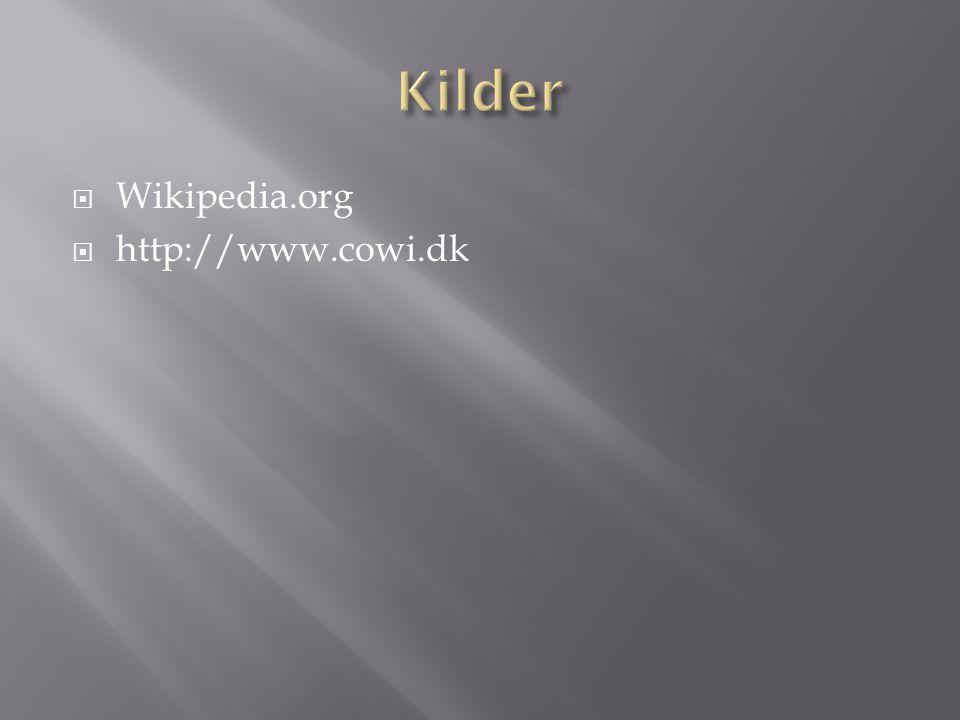 Kilder Wikipedia.org http://www.cowi.dk