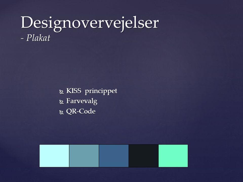 Designovervejelser - Plakat