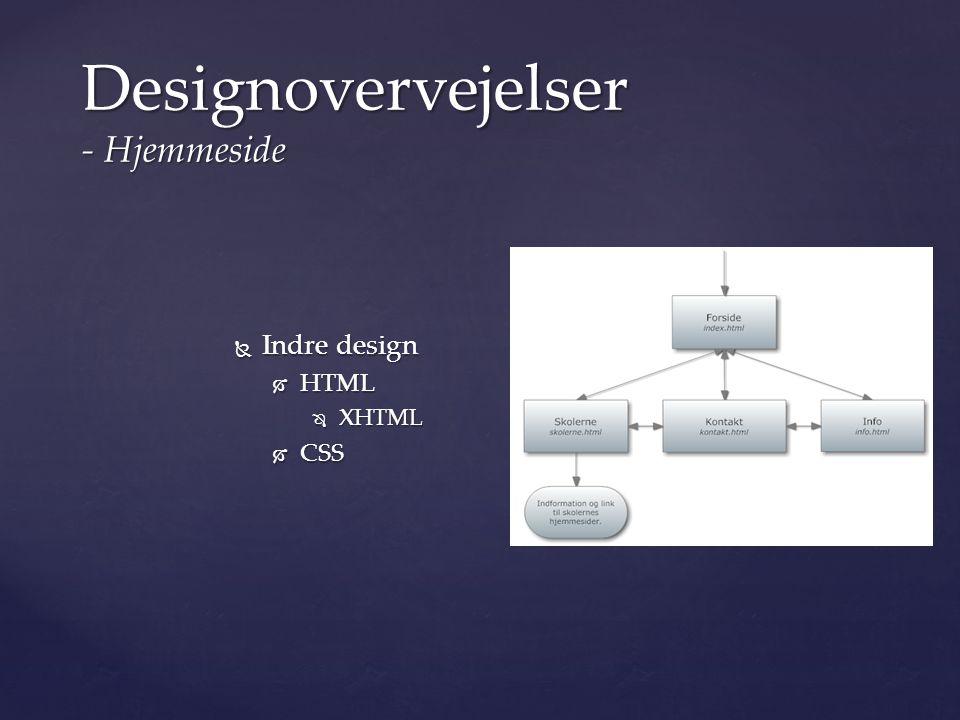 Designovervejelser - Hjemmeside
