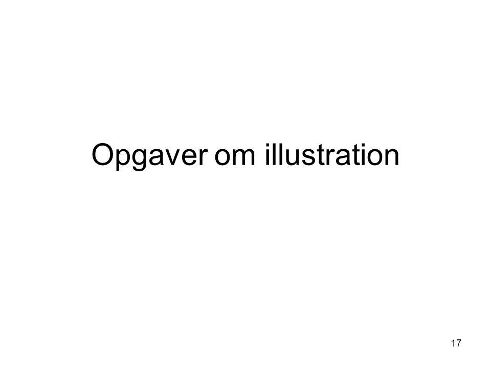 Opgaver om illustration