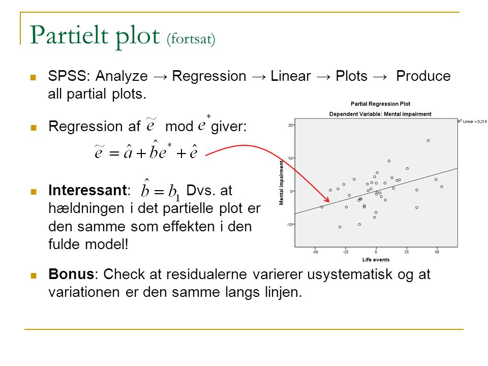 Partielt plot (fortsat)