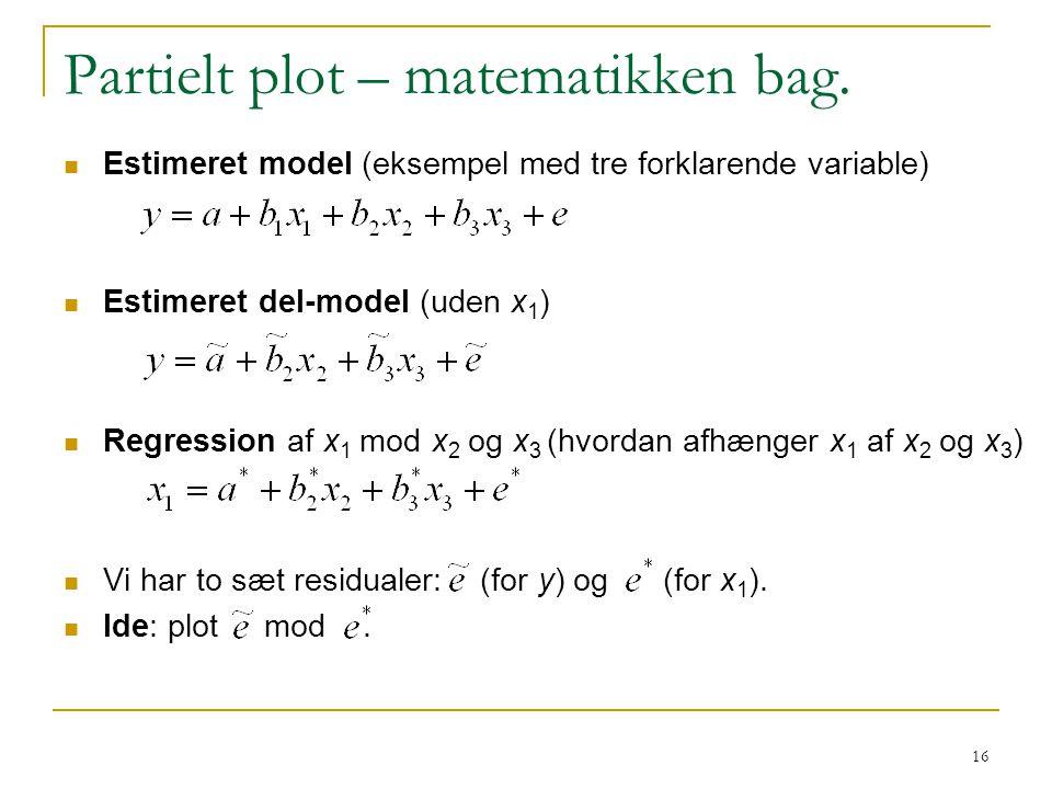 Partielt plot – matematikken bag.