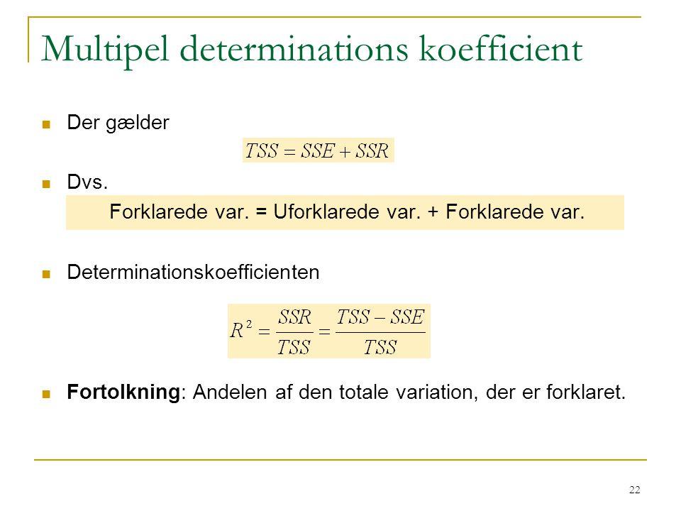 Multipel determinations koefficient