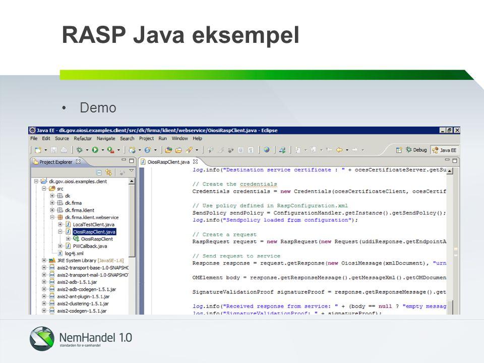 RASP Java eksempel Demo