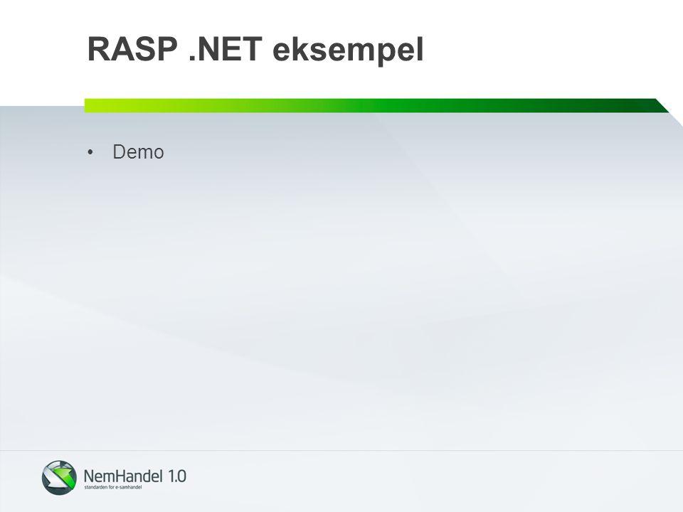 RASP .NET eksempel Demo