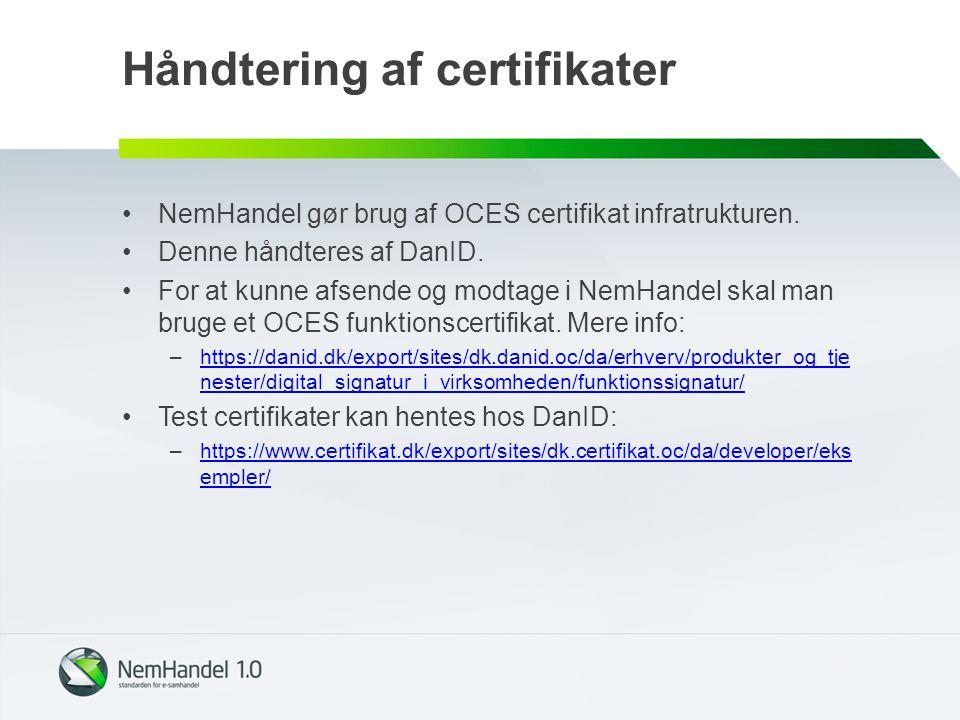 Håndtering af certifikater
