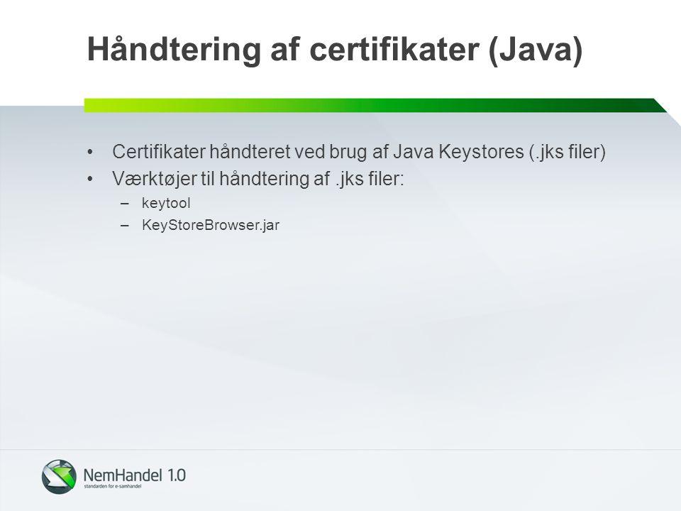 Håndtering af certifikater (Java)